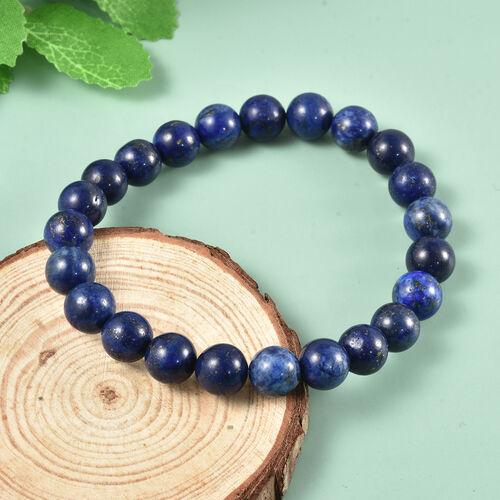MP Lapis Lazuli Beads Stretchable Bracelet (Size 7.5) 97.00 Ct.