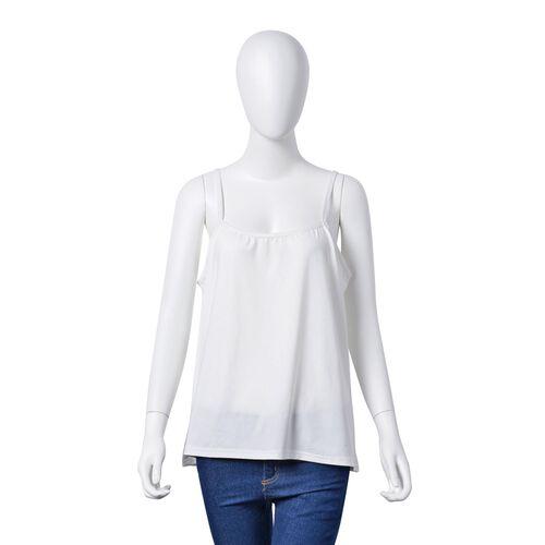 Green Colour Net Poncho (Size 150x45 Cm) and White Colour Vest (Size 60x55 Cm)