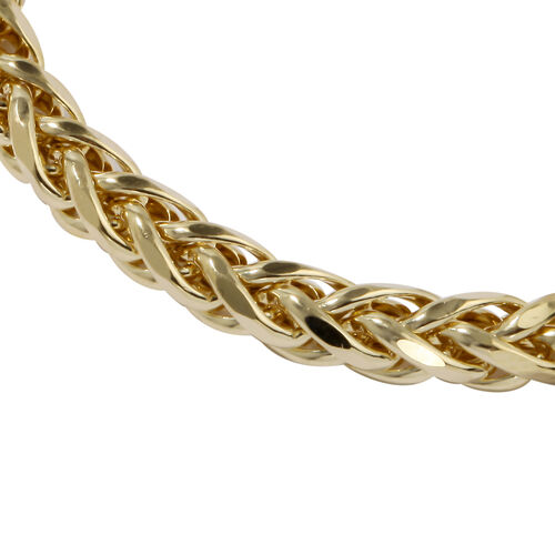 JCK Vegas Collection- 9K Yellow Gold Spiga Bracelet (Size 7.5), Gold wt 7.68 Gms
