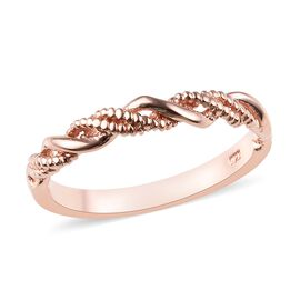 WEBEX- Band Ring in Rose Gold Overlay Sterling Silver