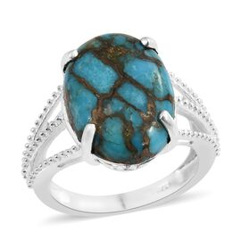Mojave Blue Turquoise (Ovl) Ring in Sterling Silver 11.000 Ct. Silver wt 3.21 Gms.