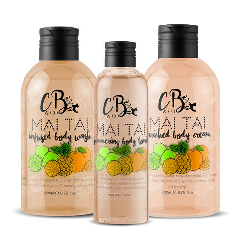 CB and CO Mai Tai Cocktail Set - Body Tonic, Body Lotion and Body Wash Estimated Dispatch 3-5 working days