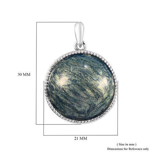 Sterling Silver Enamelled Pendant, Silver wt 3.30 Gms