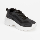 Black Lace-Up Chunky Trainers (Size 4)