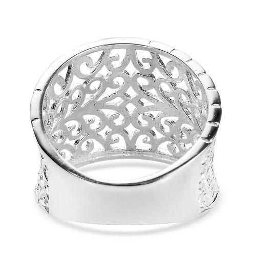 Sterling Silver Filigree Ring, Silver 3.26 Gms
