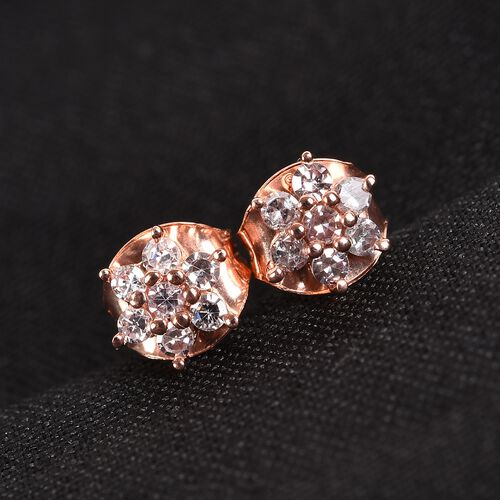 Limited Edition - 9K Rose Gold Natural Pink Diamond (Rnd) Earrings (with Push Back)