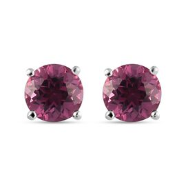 Tanzanian Wine Garnet Solitaire Stud Earring (with Push Back) in Sterling Silver 1.00  Ct.