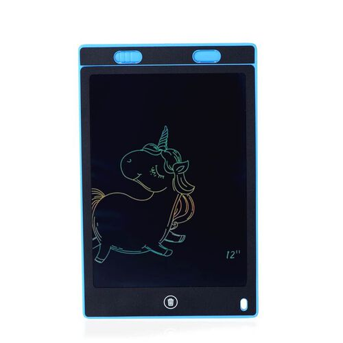 8.5 Inch Lightweight & Scratch Resistant LCD Writing Drawing Tablet Doodle Board for Kids - Blue