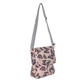 Summer Collection Nude Colour Butterfly Pattern Crossbody Bag (26x21x5cm)