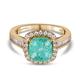 Web Exclusive ILIANA 18K Yellow Gold Boyaca Colombian Emerald and Diamond Ring 3.05 Ct, Gold Wt. 5.8