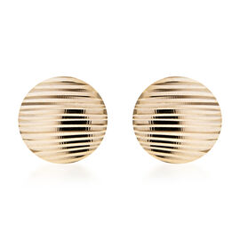 Royal Bali Collection- 9K Yellow Gold Stud Earrings (with Push Back), Gold wt 1.02 Gms