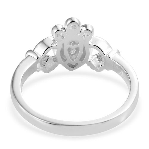 Diamond (Rnd) Heart Claddagh Ring in Sterling Silver 0.020 Ct.