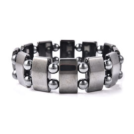 Hematite (Cush and Rnd) Stretchable Bracelet (Size 7) 186.50 Ct.