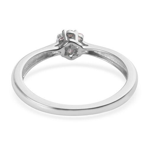 Designer Inspired Diamond (Rnd) Floral Ring in Sterling Silver