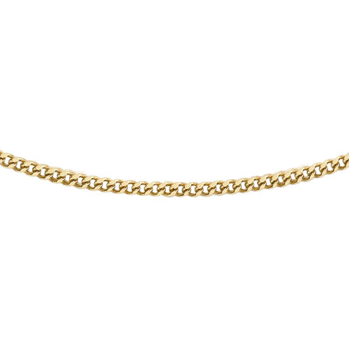 Hatton Garden Close Out Deal Curb Necklace in 9K Gold 18 Inch