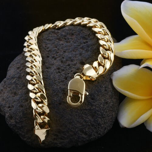 Limited Available-Royal Bali Collection 9K Yellow Gold Curb Bracelet (Size 8), Gold wt 18.52 Gms.