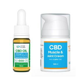 Tower Health: 10% CBD Oil - 10ml - (With Free CBD Cream - 50ml)