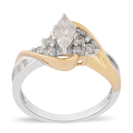14K Yellow Gold Natural White Diamond Ring 1.00 ct,  Gold Wt. 4.80 Gms