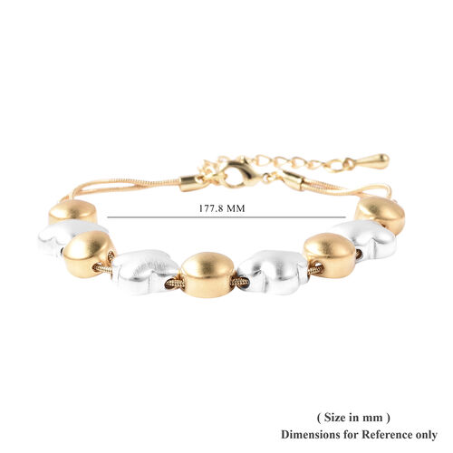 Adjustable Bracelet (Size 7-8.5) in Gold and Silver Tone