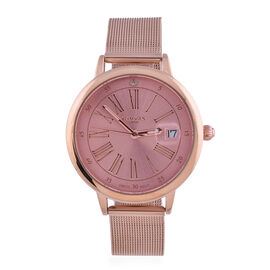 GAMAGES OF LONDON Ladies Sophisticated Watch in Rose Pink
