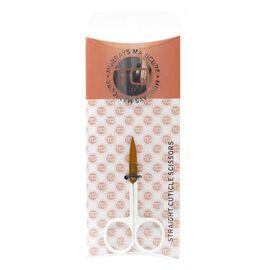 TQ Straight Scissors White & Rose Gold
