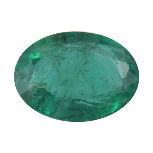 AAA Emerald Oval 7x5 Faceted 0.56 Cts