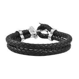 Genuine Braided Leather Bracelet (Size 7.5)