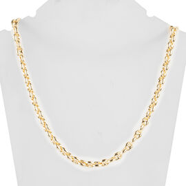 Italian Made- Yellow Gold Overlay Sterling Silver Mariner Necklace(Size 20), Silver wt 31.32 Gms.