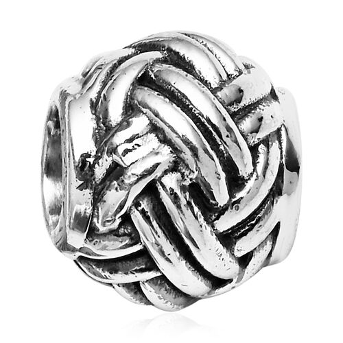 Charmes De Memoire Woven Charm in Platinum Plated Sterling Silver 4.30 Grams