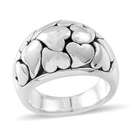 Thai Sterling Silver Heart Ring, Silver wt. 6.57 Gms