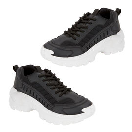 TRAINER BLACK PU MAX LACE TRAINER
