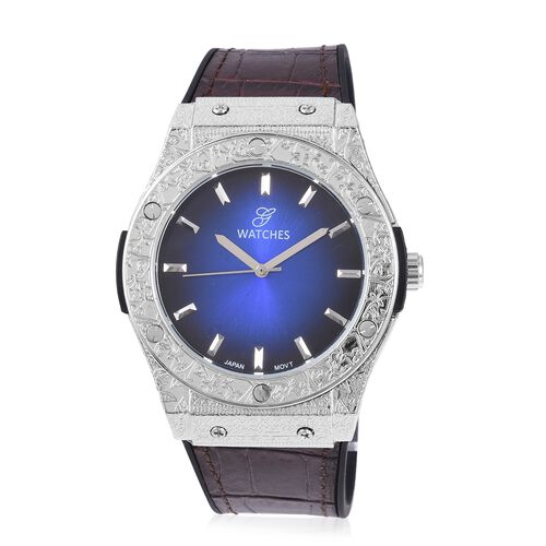 GENOA Japanese Movement Natural Stainless Steel Watch - Silver
