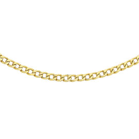 Hatton Garden Close Out 9K Yellow Gold Curb Necklace (Size 20), Gold wt. 2.00 Gms