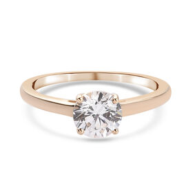 9K Yellow Gold   Swarovski Zirconia  Ring 1.63 ct,  Gold Wt. 1.35 Gms  1.670  Ct.