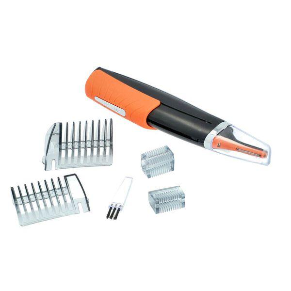 Multipurpose 2-in-1 Hair Trimmer (Size 16.5x4x2.5cm) - Orange and Black