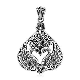 Royal Bali Collection Swan Couple Pendant in Sterling Silver 17.40 Grams