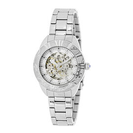 Empress Godiva Automatic Movement White Dial 10 ATM Water Resistant Ladies Watch in Stainless Steel