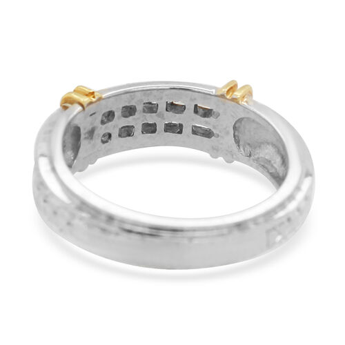 New York Close Out 0.50 Ct Diamond VS SI G Ring in 18K Yellow and White Gold