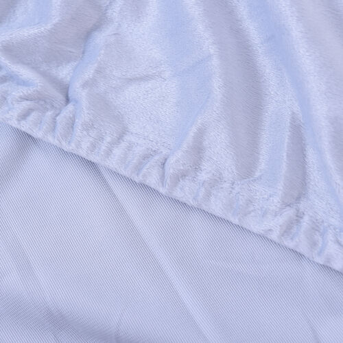 Serenity Night Light Blue Fitted Sheet (Size 140x190+30cm) - DOUBLE