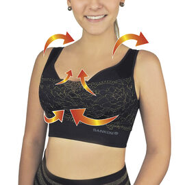 DOD SANKOM SWITZERLAND Patent Classic with Lace Bra Including Black With Gold Trim
