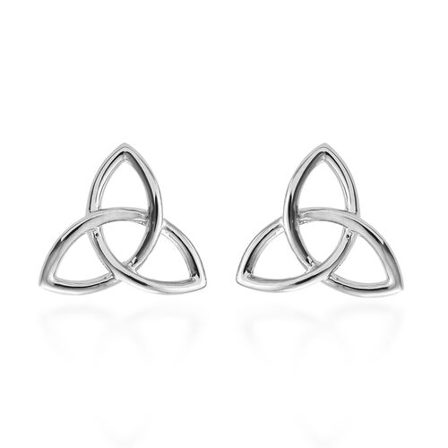 RHAPSODY 950 Platinum Trinity Knot Earrings (with Screw Back) Platinum Weight 5.19 Grams