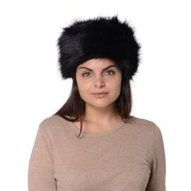 Super Soft Cossack Faux Fur Winter Hat - Black