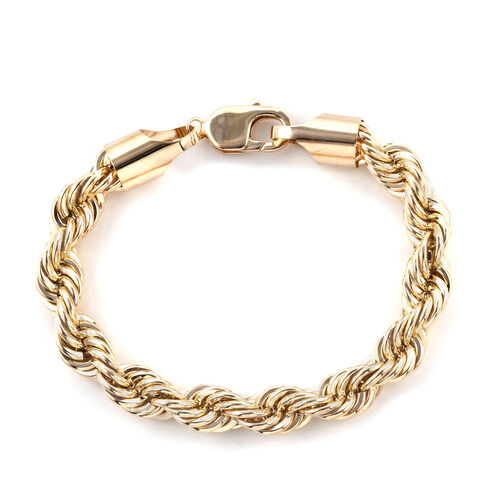 Royal Bali Collection 9K Yellow Gold Rope Bracelet (Size 8), Gold wt 17.86 Gms.