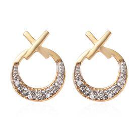 Diamond 14K Gold Overlay Sterling Silver Earring  0.050  Ct.