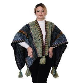 Printed Open-Front Loose Fit Kimono - Multicolour