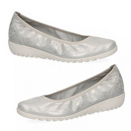 CAPRICE Women Wedge Pump Sandal  Silver Shin