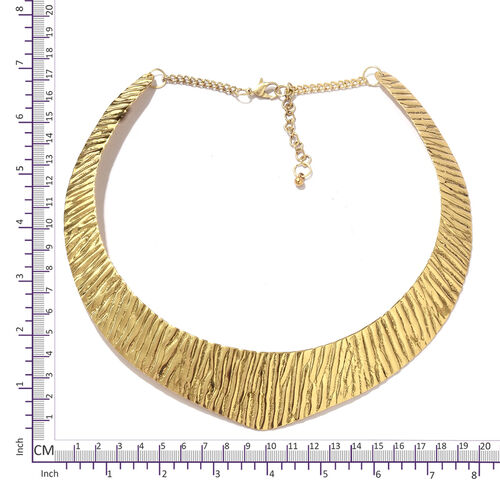 Choker Necklace (Size 43+5 Cm) in Gold Tone