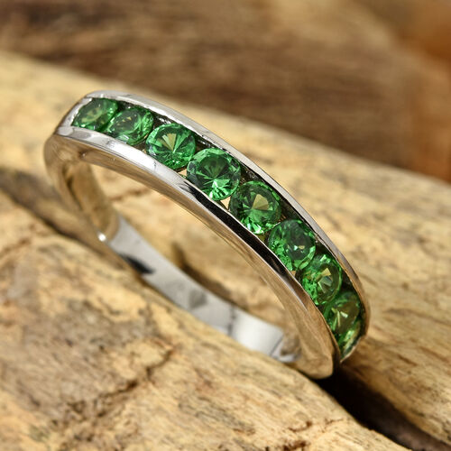 Rhapsody Tsavorite Garnet (1.00 Ct) 950 Platinum Ring  1.000  Ct.