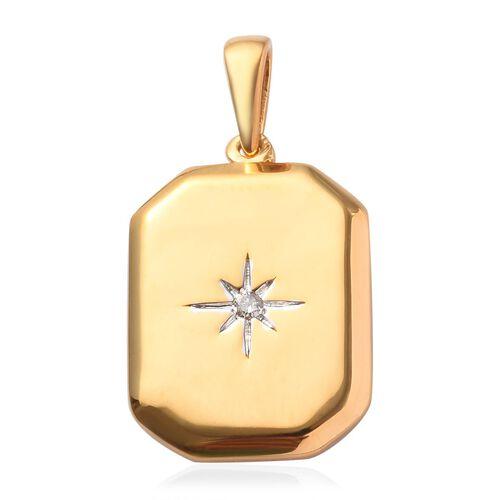 Diamond Pendant in 14K Gold Overlay Sterling Silver