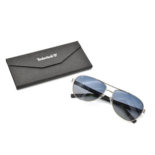 TIMBERLAND Gold Aviator Sunglasses with Black Lenses